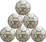 Soccer Ball Premier Size 4 (Red, White, and Blue) Six Pack