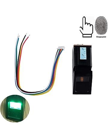 Lector óptico de huellas digitales Sensor Escáner Módulo Cerradura de la puerta Control de acceso Luz