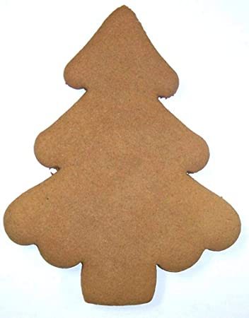 Scott S Cakes Undecorated 7 Large Christmas Tree Gingerbread Cookies