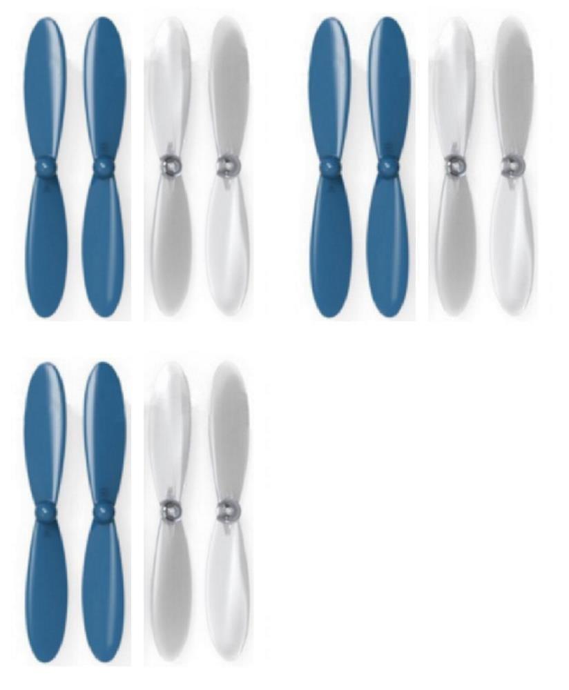 玄関先迄納品 HobbyFlip ブルー クリア クリア プロペラブレード プロペラ 9イーグルス バイザー ギャラクシー プロペラ バイザー 2個セット B01DY3Y1YA, かめ屋質店:28fd8590 --- diceanalytics.pk