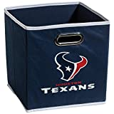 Franklin Sports Houston Texans Collapsible Storage Bin – NFL Folding Cube Storage Container – Fits Bin Organizers – Fabric NFL Team Storage Cubes