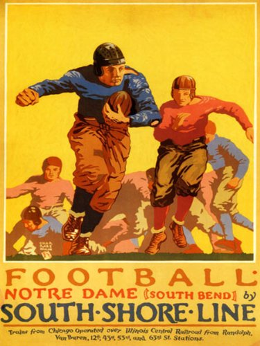 notre dame football poster