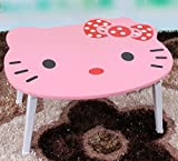 F&W Laptop Table Creative Cartoon Table Bed With Simple Foldable Lazy Baby Hello Kitty