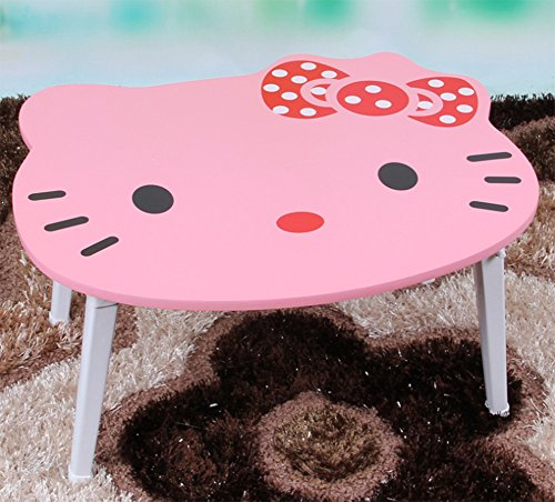 F&W Laptop Table Creative Cartoon Table Bed With Simple Foldable Lazy Baby Hello Kitty by  F&W