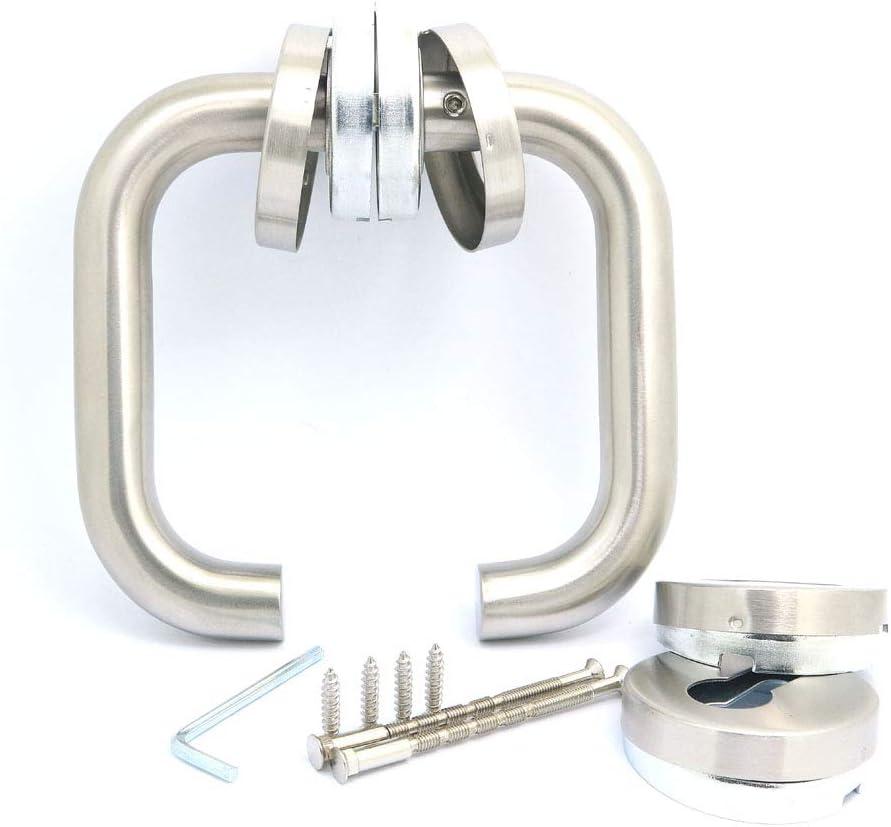 NUZAMAS - Par de manillas para puerta de acero inoxidable 304 con acabado cepillado, estilo minimalista moderno para baño, cocina, armario y sala de estar
