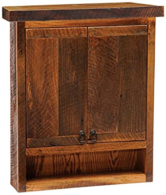 Fireside Lodge Furniture Barnwood Toilet Topper Cabinet