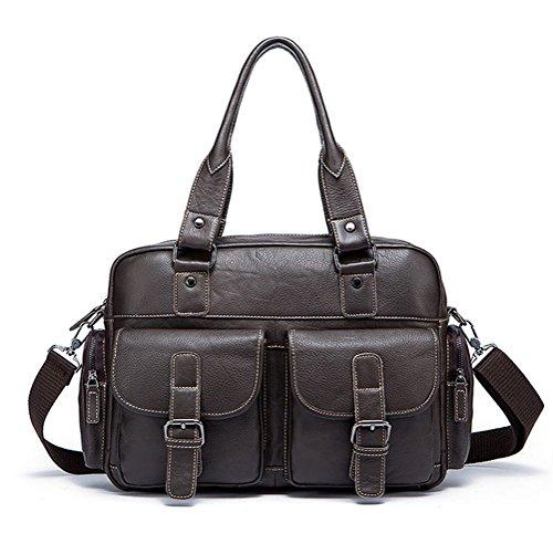 Simple Funktionell Herren Leder Schultertasche Messenger Bag Tasche Umhängetasche für Reise Alltag Outdoor Sports fgK6EY
