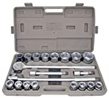 21pc METRIC 3/4'' Drive Socket Set w Storage Case Jumbo Ratchet Wrench Extension