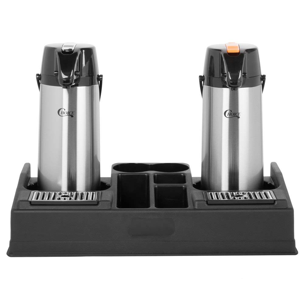 TableTop King Coffee Station Organizer with 2.2 Liter Glass Lined Lever Airpots - Reg/Decaf by TableTop King (Image #1)