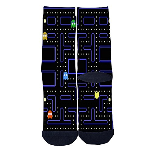 Pac-Man Maze Adults Socks. Sizes 6-8, 10-12