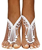 Bellady 2 PCS Barefoot Sandals Summer Beach Wedding Jewelry Accessories Anklet Chain, Silver_Style 9