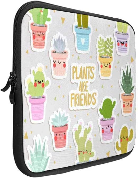Funny Cactus Triangle Laptop Sleeve Case 15 15.6 Inch Briefcase Cover Protective Notebook Laptop Bag