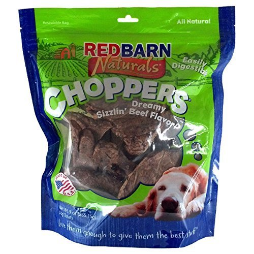 Redbarn Choppers Beef Lung Chews For Dogs  9 Ounce Bag