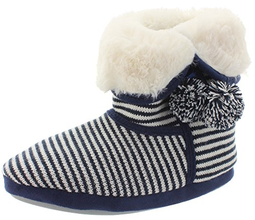 Hüttenschuhe Hausschuhe STRIPED SLIPPER 35299ND Blue Multi