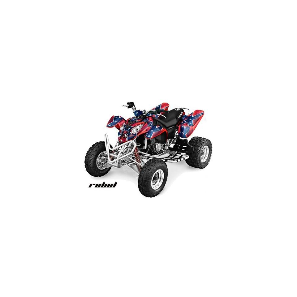 AMR Racing 2002 2011 Polaris Predator 500 ATV Quad, Graphic Kit   Rebel Red,