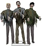 UHC Scary Haunted House Zombie Horde Horror Decoration Animated Halloween Prop