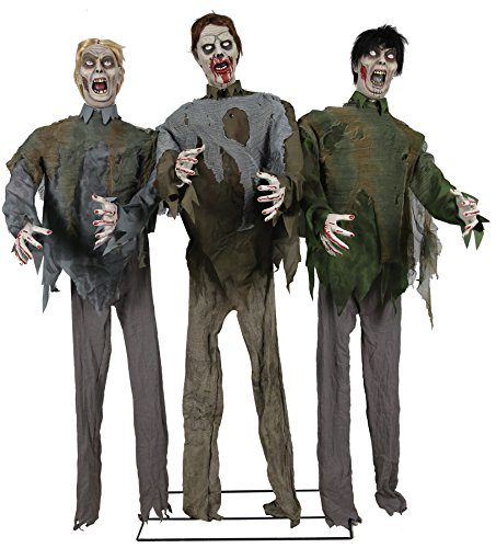 UHC Scary Haunted House Zombie Horde Horror Decoration Animated Halloween Prop ()