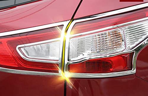 Yingchi//ABS Chrome Car Rear Taillight Tail Light Lamp Cover Trim Bezel Frame For Qashqa 2015-2019