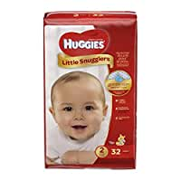 Huggies Little Snugglers Baby Diapers, Size 2, 32 Count