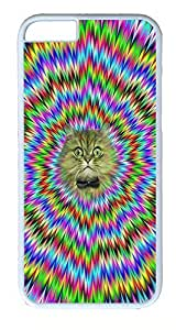 iPhone 6 Cases, ACESR Plastic Hard Case Cover for Apple Iphone 6 (4.7inch Screen) White Border Psychedelic Cat