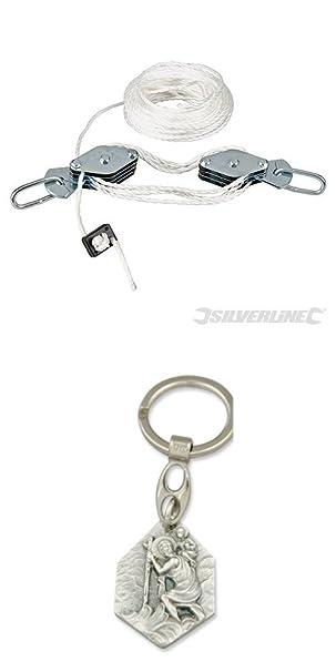 Seilwinde Silverline Flaschenzug 180 kg 6 zu 1 Handseilzug Hebezug Seilzug