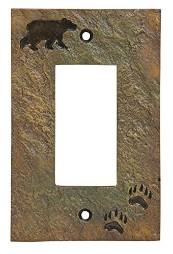 Big Sky Carvers 30170439 Bear and Tracks Decorative Switch Plate