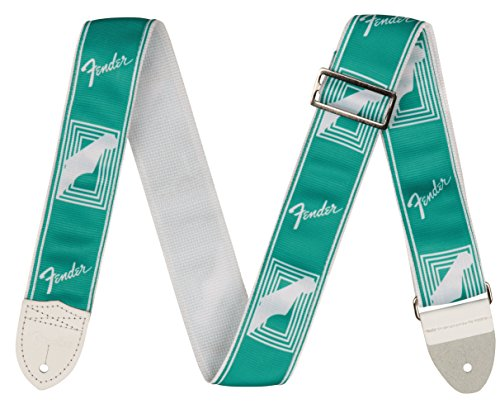 "Fender 2"" Monogrammed Guitar Strap-Sea Foam Green (0990627085)"