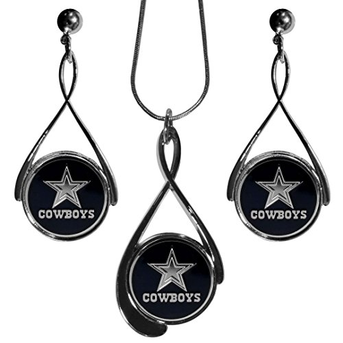 Logo Primary Earrings (Siskiyou NFL Dallas Cowboys Tear Drop Necklace and Earrings Set)