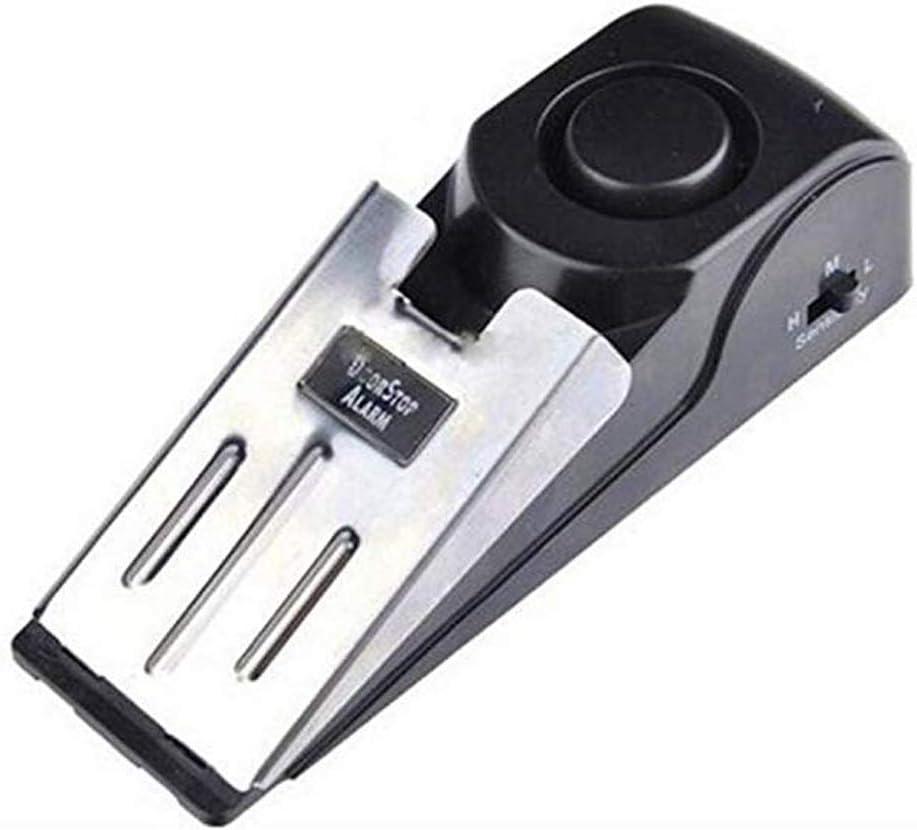 LNDDP Tope Puerta Vibración inalámbrica Activada Alerta Tope en Forma cuña para el hogar Sistema Seguridad Alarma Tope para Puerta
