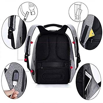 Aerizo BM25 Anti-Theft Water Resistant USB Charging Port Laptop Backpack for  School,Office   College (Assorted Colour)  Amazon.in  Bags, Wallets    Luggage a923db5b3b