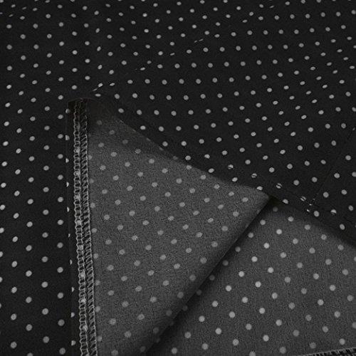 Taille Plus JIANGfu Impression Manches lache T Blouse Chemisier Longues V Mode d'onde Femme Cou Occasionnelles Longues Chemisier Shirt Femmes Point Noir Tops Manches awaqyTprAO