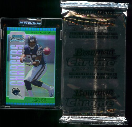 ootball Cards Unopened Rookie Green Refractor Pack (#'d to 399 or less) ()