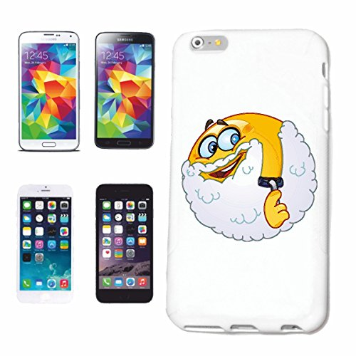 "cas de téléphone iPhone 4 / 4S ""ALTER SMILEY AVEC BARBE ""smile EMOTICON APP de SMILEYS SMILIES ANDROID IPHONE EMOTICONS IOS"" Hard Case Cover Téléphone Covers Smart Cover pour Apple iPhone en blanc"
