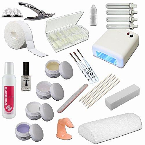 Nagelstudio Starterset - Nail Set mit Handauflage für Nagelmodellage