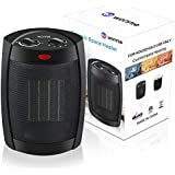 WONNIE Space Heater Portable for Office Home ETL Listed 900W/1500W/Mini Fan 2019 Upgrade (Black)