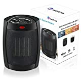 WONNIE Space Heater Portable for Office Home ETL Listed 900W/1500W/Mini Fan 2018 Upgrade