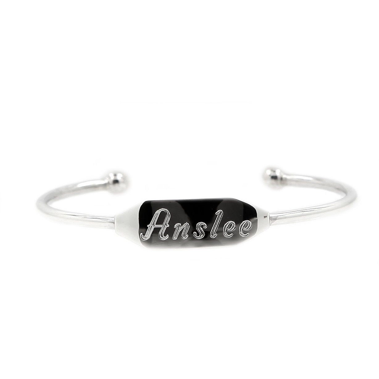 Sterling Silver Half Cuff Engravable Bangle Bracelet for Infant or Toddler LGu SB-000001