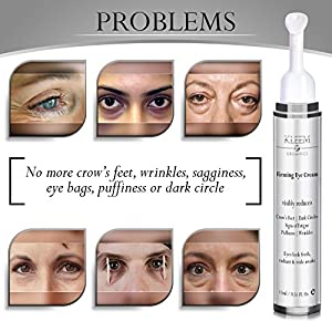 NEW Anti Aging Eye Cream for Dark Circles and Puffiness that Reduces Eye Bags, Crow's Feet, Fine Lines, and Sagginess in ONLY 4 WEEKS. The Most Effective Under Eye Cream for Wrinkles that will Revital