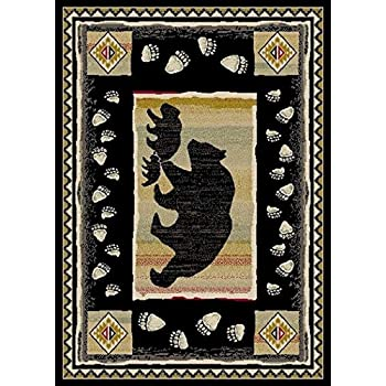 Amazon Com Rug Empire Take The Lead Black Bear Rustic
