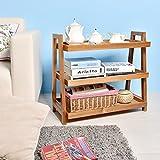 welland wine rack - WELLAND End Tables 3-Tier Acacia Wine Rack Wooden Stand Living/Study Room/Bathroom/ Kitchen Storage Shoe Racks