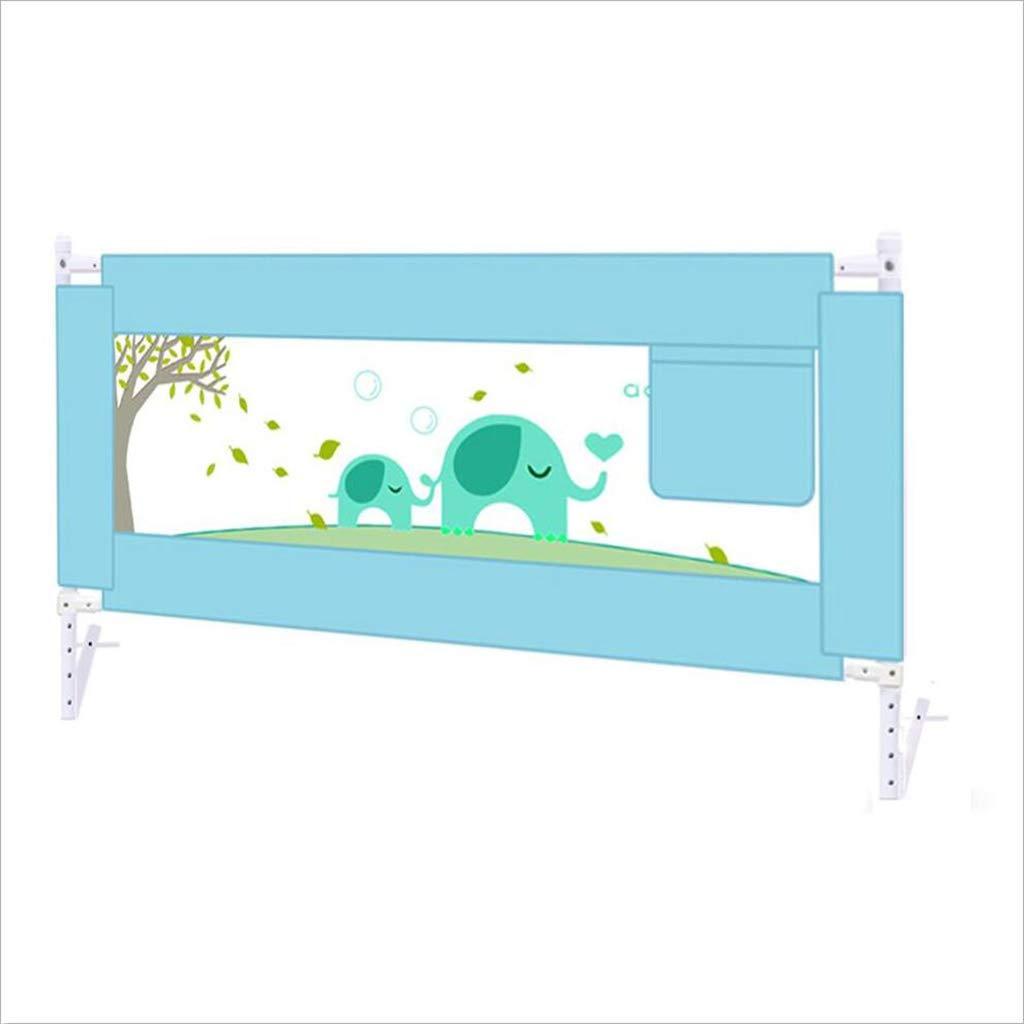 PENGJUN ベッドのフェンスの赤ちゃんのアンチ秋のフェンスのベッドユニバーサル保護の子供の安全フェンス (色 : 青, サイズ さいず : 180cm) 180cm 青 B07GWY51JS