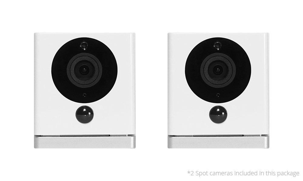 iSmartAlarm スポットHDビデオカメラ ホワイト 2-pack iSC5D 1 B01KCBE6CE  2-pack