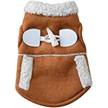 Coper Winter Pet Supplies Costume Puppy Dog Warm Coat Jacket (Coffee, S)