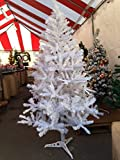 Perfect Holiday Unlit Artificial Christmas Tree, 6-Feet, Crystal White