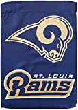 NFL St. Louis Rams Two Sided Glitter Accented Garden Flag, Medium, Multicolored