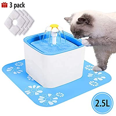 Cat Water Fountain PG.KINWANG Pet Fountain,Cat Water Fountain Dog Water Dispenser... [tag]