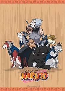 Naruto Kakashi Dogs Cloth Wall Scroll Poster GE-9701