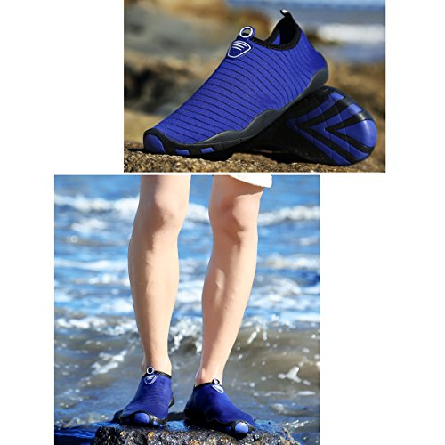 Flat Navy Mutifunctional Sports Wading Breathable Heeled Outdoor Shoes Pure RUN L Casual Mesh Unisex BXnYvqO