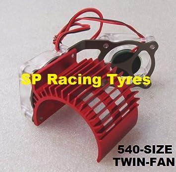 SP RACING - Disipador Radial de Aluminio con Doble Ventilador para ...