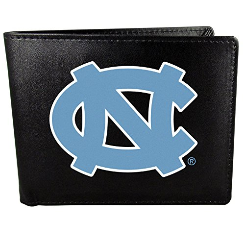 Carolina Tar Heels Bi-Fold Wallet Logo, Large, Black ()